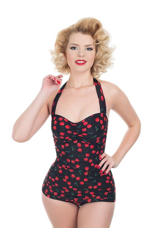 Black Cherry Retro Swimsuit