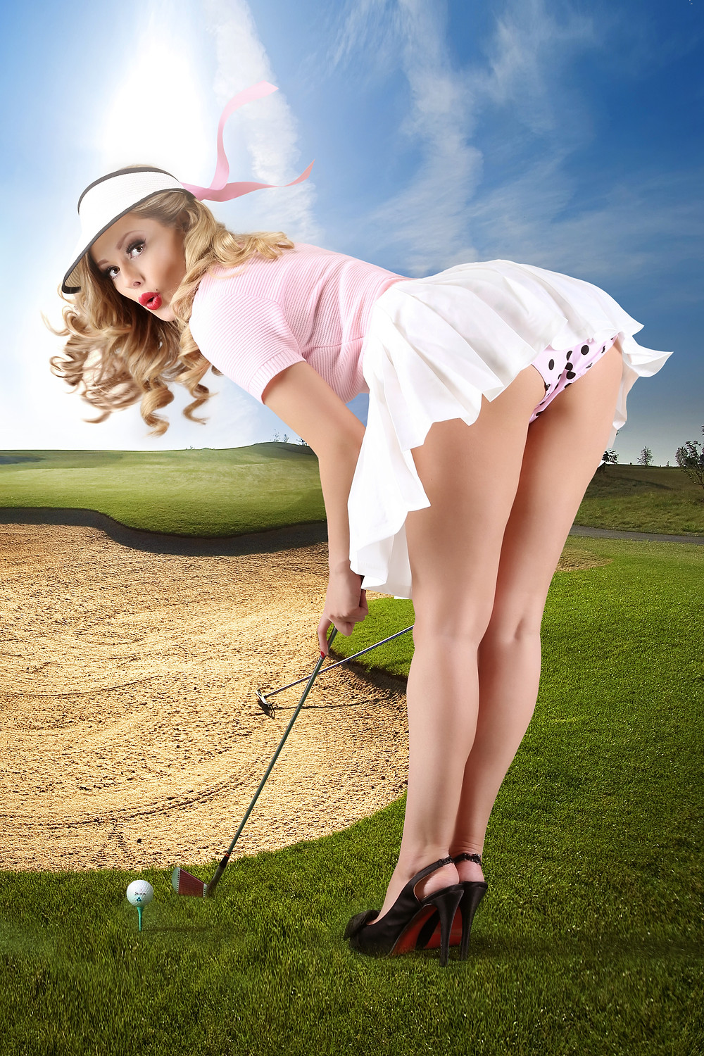 Heather Valentine Pin Up Model | Golf Pin Up By Dollhouse Photography
