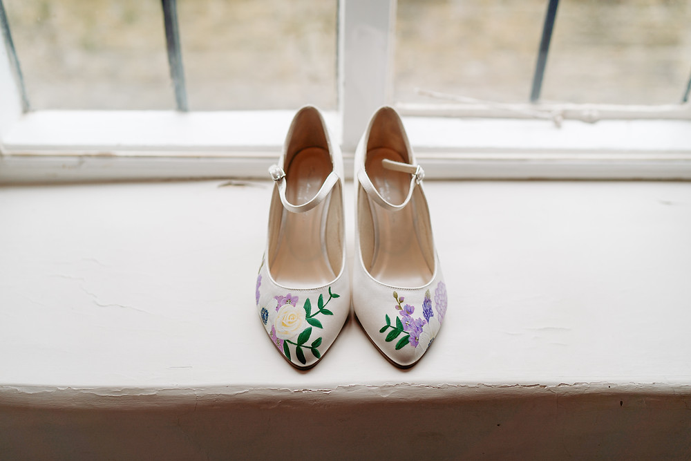 Somerset Wedding Photographer. Wedding Shoes. Wedding Photography by Heather Bailey.