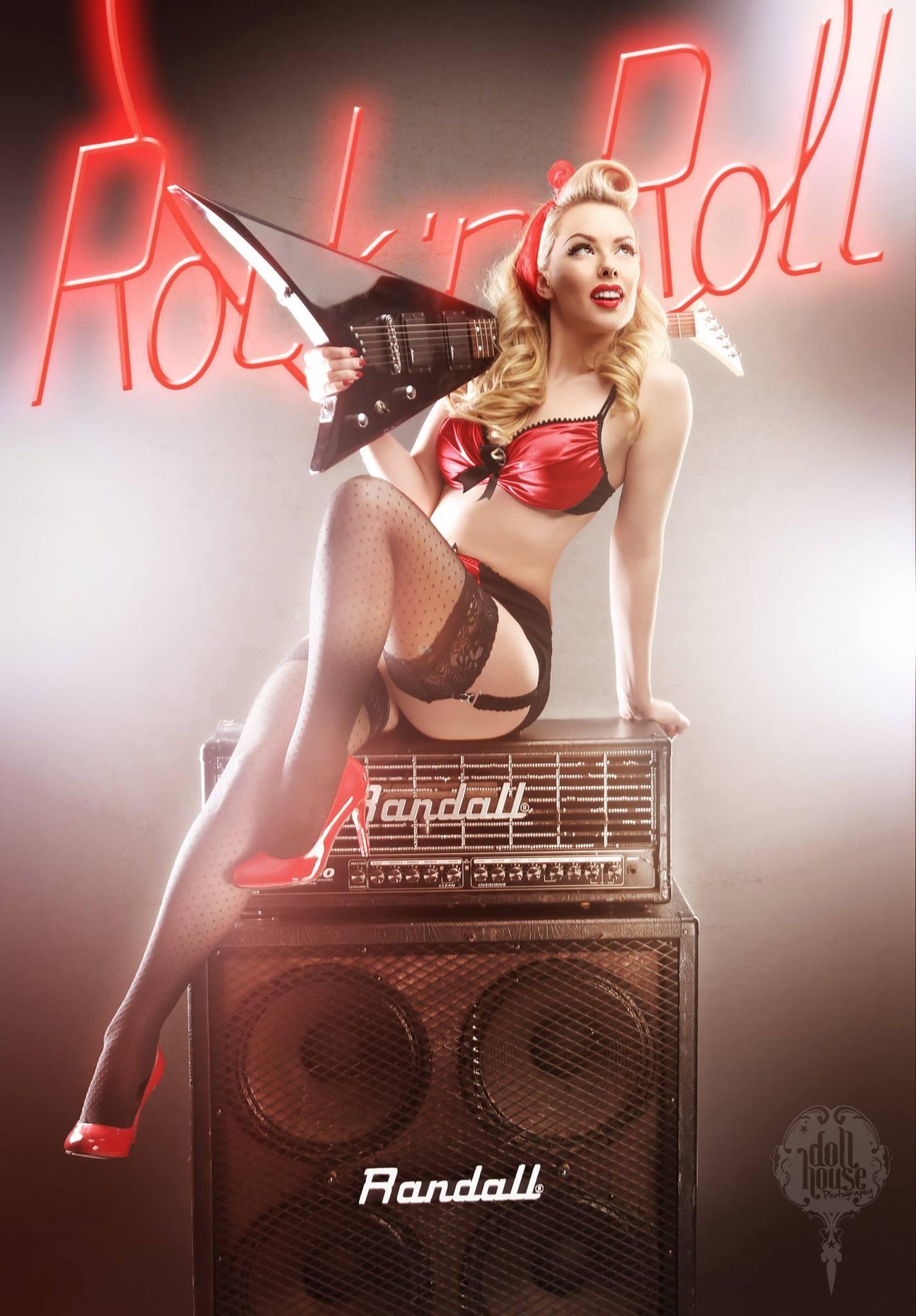 Rock n Roll Guitar Pinup Model
