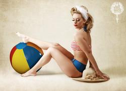Beach Ball Pinup Pose Ideas