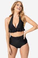 Oceanside Black Bikini Top
