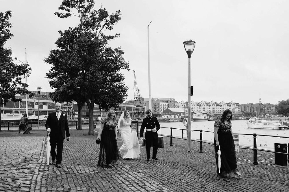 Bristol Wedding Photography. Couple Portraits Bristol Harbour Wedding..