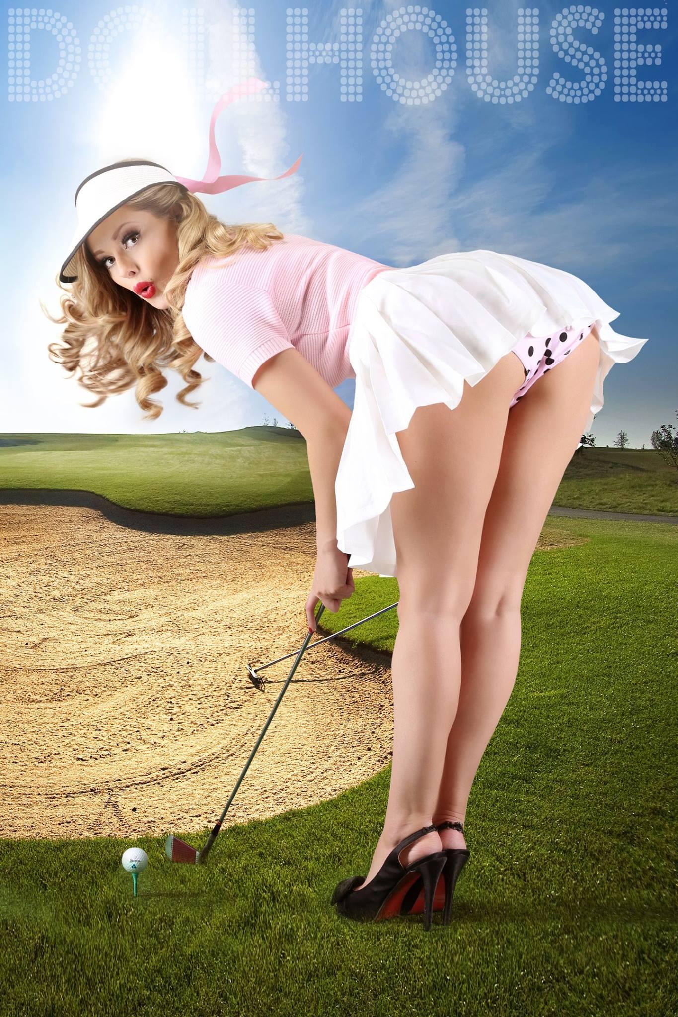 Golf Pin Up Model Heather Valentine