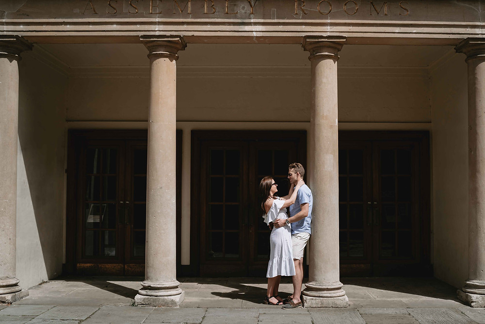 Pre-Wedding Engagement Photography Bath, Somerset. Assembly Rooms Baths Wedding. Award winning photography by Heather Bailey