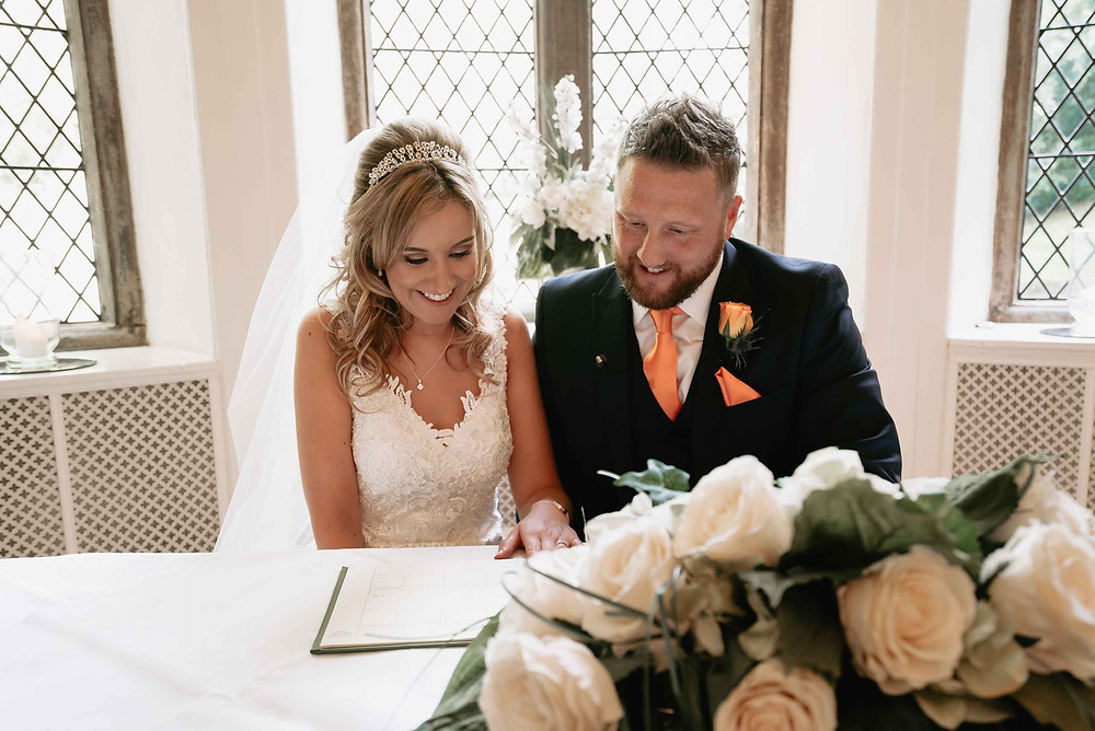 Wedding Ceremony Indoors at Clearwell Castle Venue
