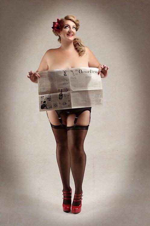 Annie Stilettos Signed Newspaper Photograph