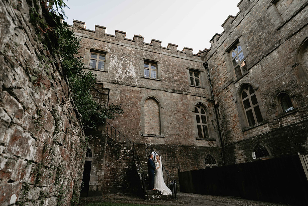 Wedding Portrait Ideas at Clearwell Castle, Gloucestershire