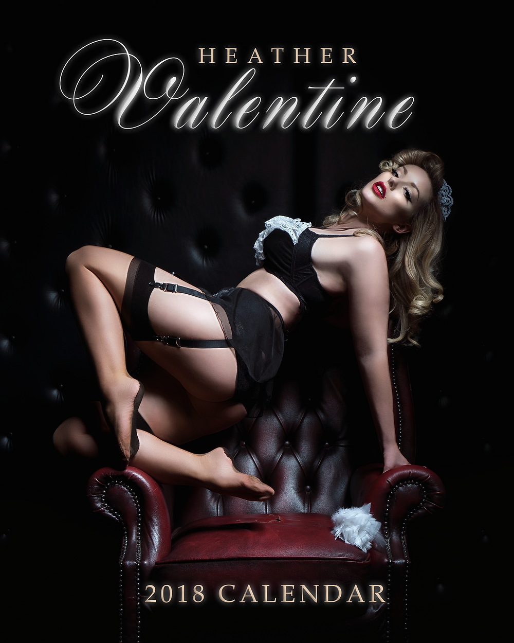 Heather Valentine 2018 Pinup Calendar Cover Image | World Famous Pin up Model
