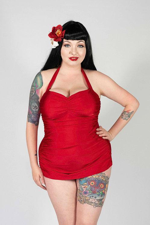 Red Retro Swimsuit