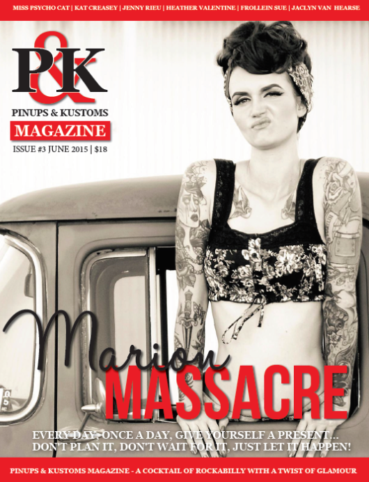 Pinups & Kustoms Magazine June 2015 Cover