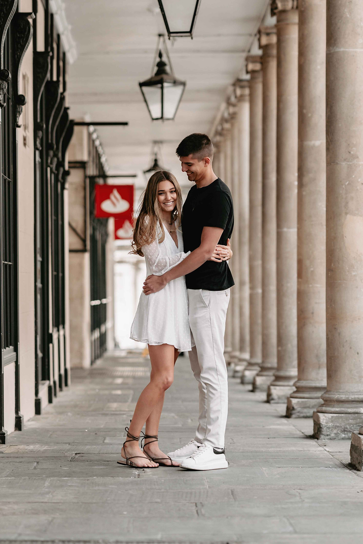 Roman Baths & Pump Rooms - Engagement Photography in Bath Somerset - Wedding Photographer