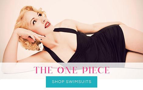 One Piece Vintage Retro Swimsuits - Swimwear by For Luna UK Swimwear Brand