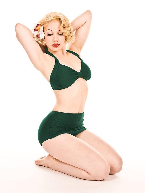 Emerald Green Retro Bikini Bottoms