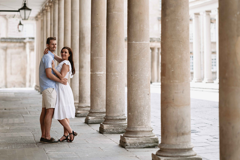 Roman Baths Pre-Wedding Engagement Photography Bath, Somerset. By Award Winning Wedding Photographer