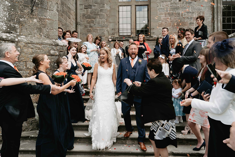 Confetti Outdoors at Clear well Castle Venue