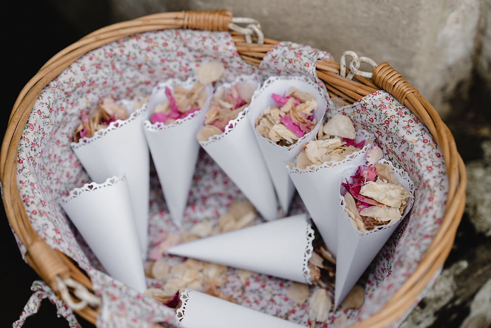 Confetti. Reportage Style Wedding Photography Somerset. Professional Wedding Photography
