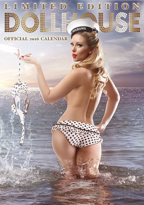 Dollhouse Photography 2016 Pin Up Calendar Cover Limited Edition feature Pin Up Model Heather Valentine