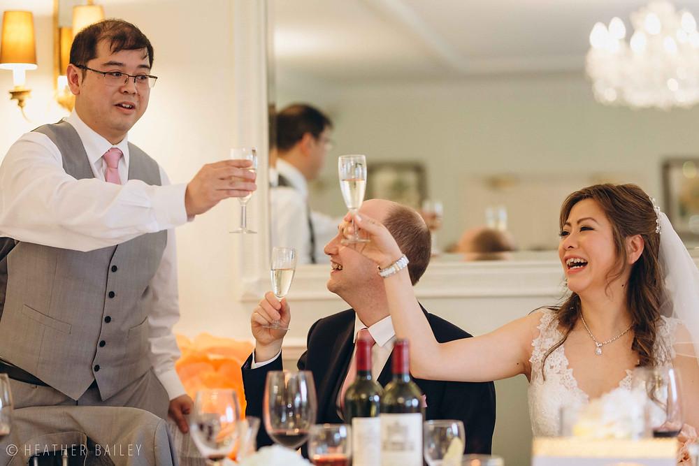 Wedding Speech - Photographer at Beechfield House, Melksham, Wiltshire - Heather Bailey Wedding Photography and Videography
