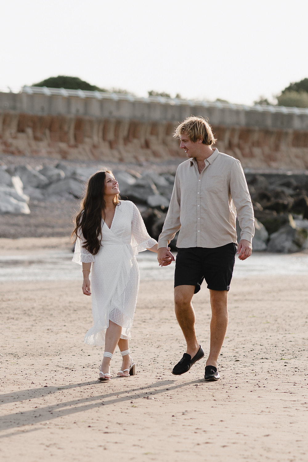 Engagement Photo Shoot  by Heather Bailey Photography at Minehead beach