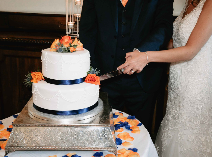 Wedding Cake Cutting at Clearwell Castle
