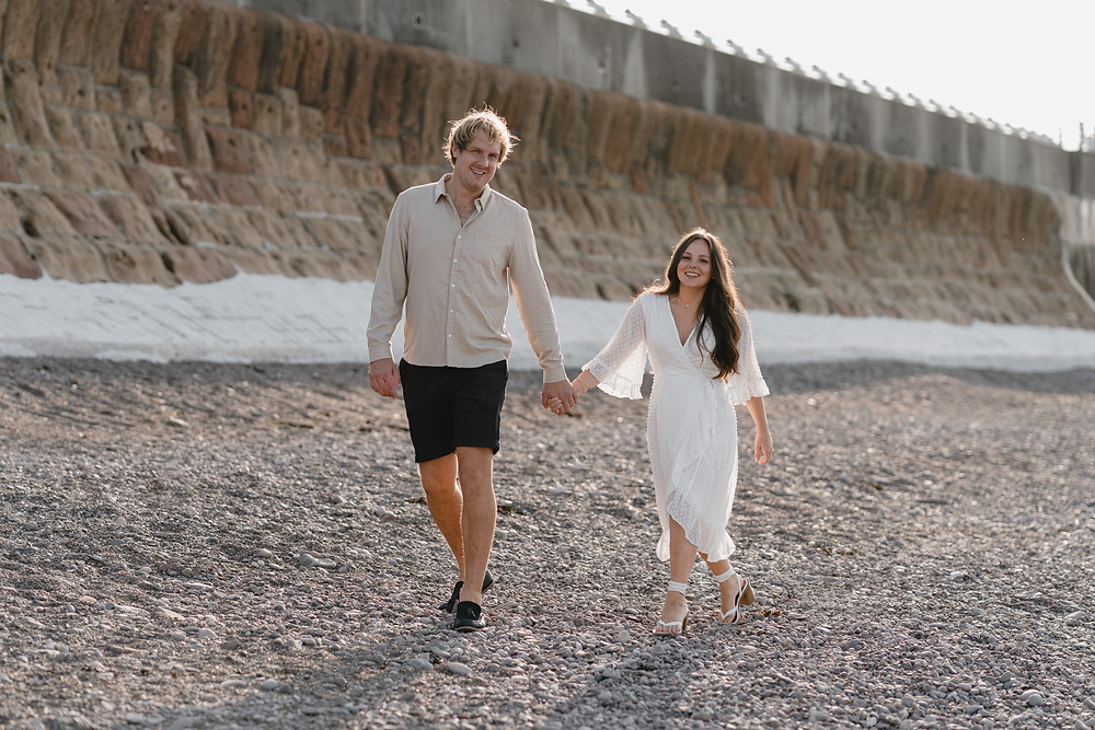 Engagement Shoot Ideas. Pre-Wedding Shoot at the beach in Somerset