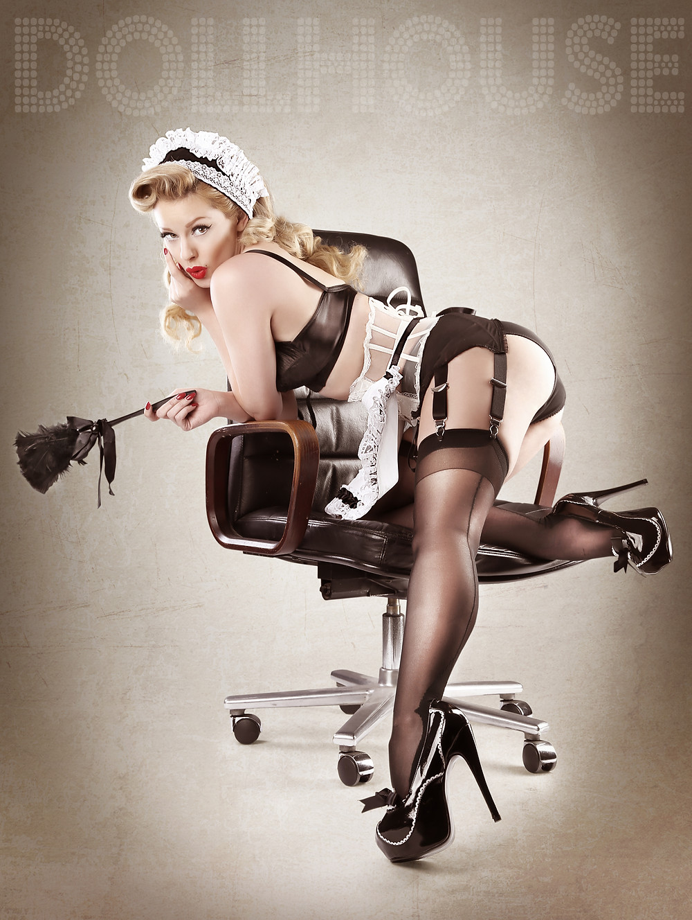Heather Valentine French Maid Pin Up Ideas By DollHouse Photography