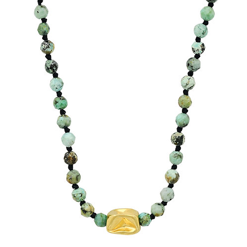 African Turquoise + 18k gold
