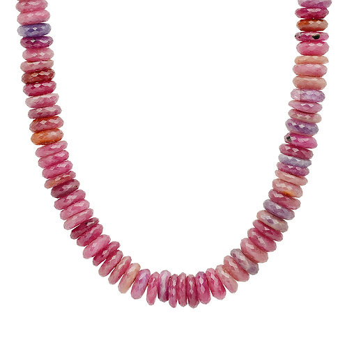 Natural Ruby Beaded Necklace