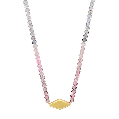Multicolored Spinel + 18k Gold