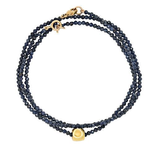 Sapphire + 18k bracelet