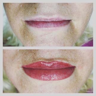 Permanent lip tint #liptint #permanentli
