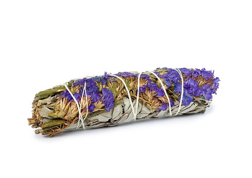 SAGE WITH FLOWERS - White Sage | Earths Elements