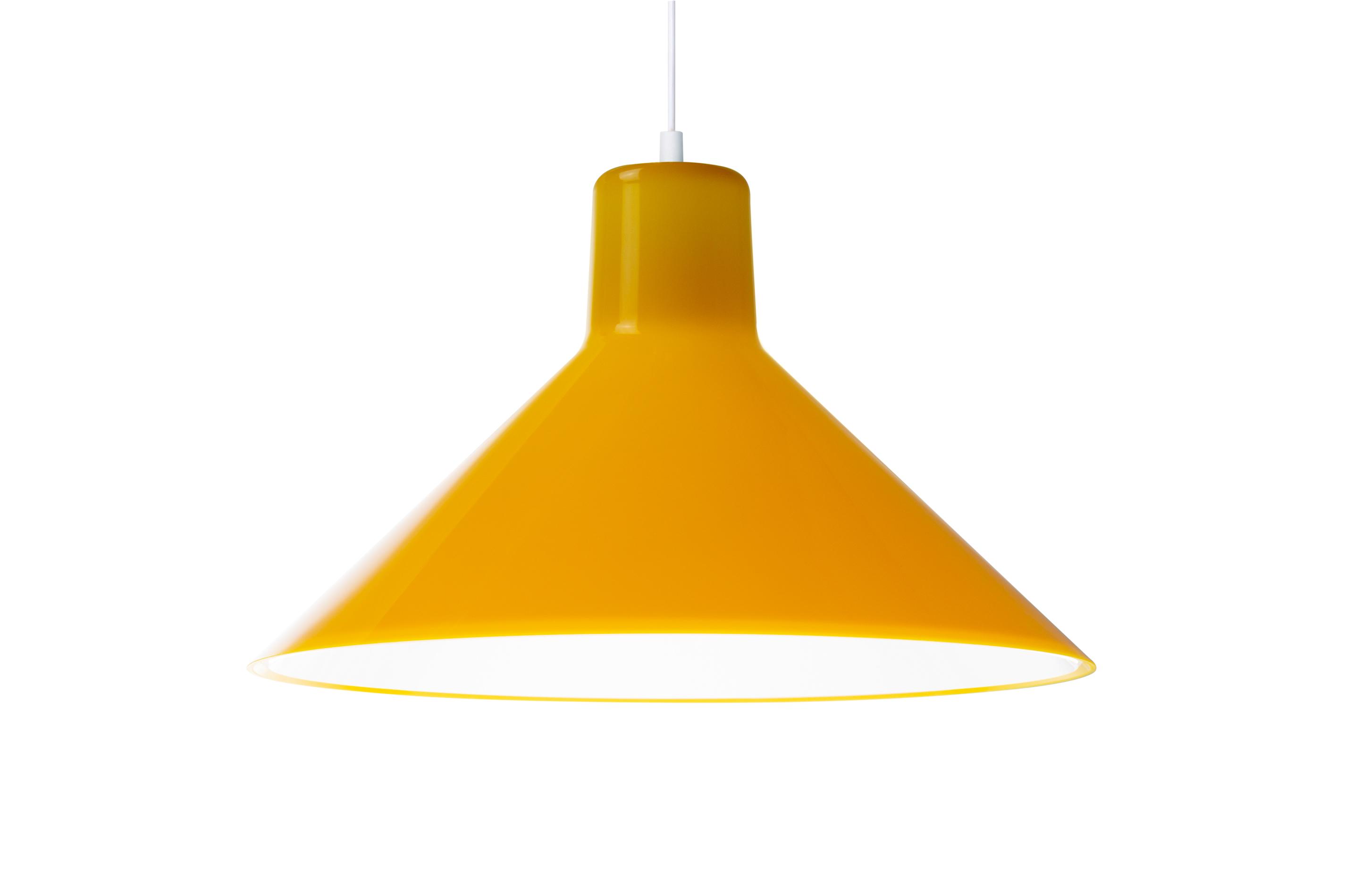 Eero Aarnio Kotivalo design-valaisin keltainen