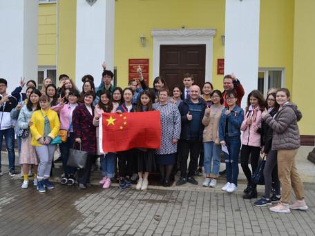 Районный Дворец культуры посетили студенты из Китая