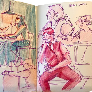 Airport- Colored Pencil