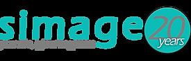 Simage logo - 20 jaar - cyan and grey_ed