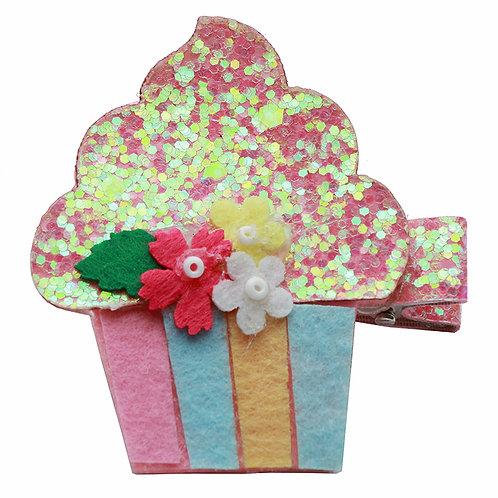 Glitter Cupcake Clip