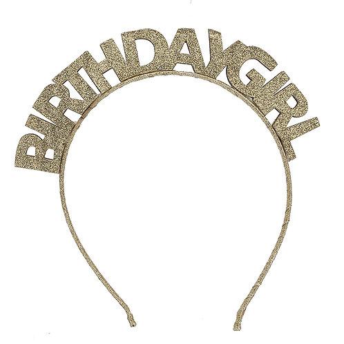 Glitter Birthday Girl Headband WS