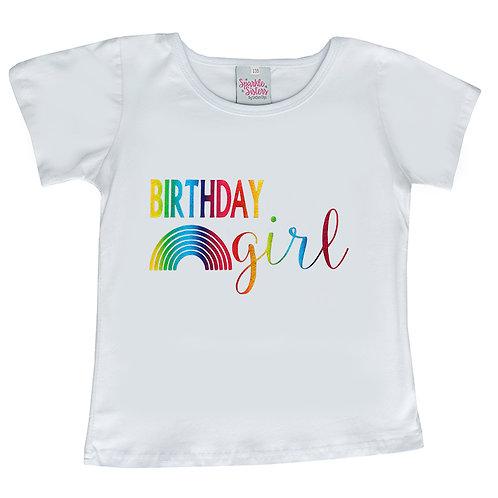 Rainbow Birthday Girl Tee