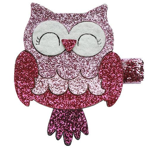 Glitter Owl Clip WS