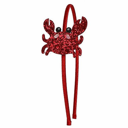 Glitter Crab Headband