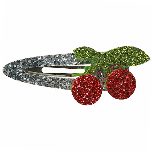 Glitter Cherry Snap Clip WS