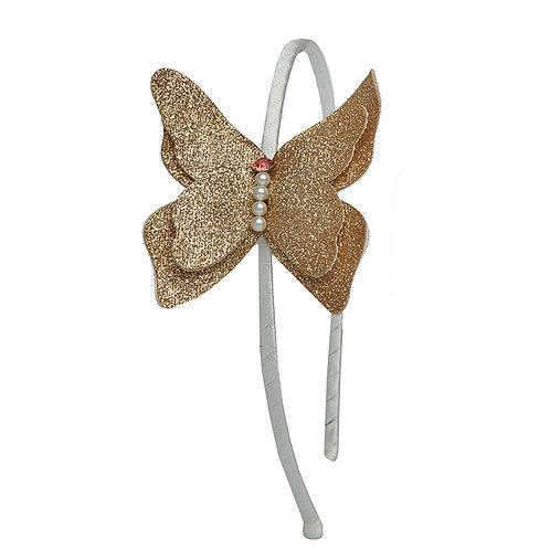 Glitter Butterfly Headband