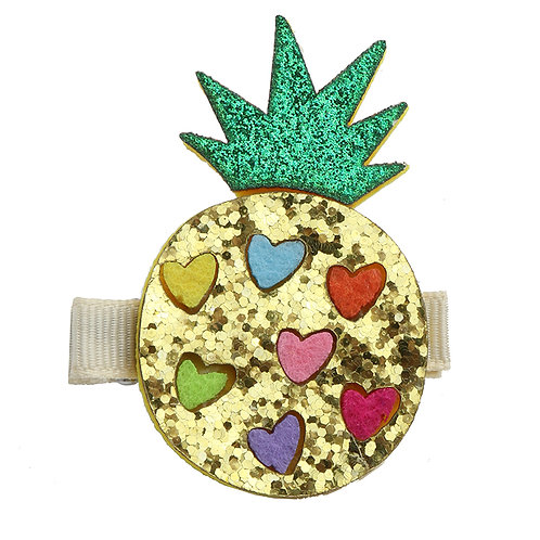 Pineapple Hearts Clip