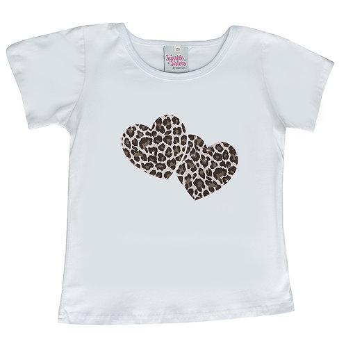 Silver Leopard Hearts Tee WS
