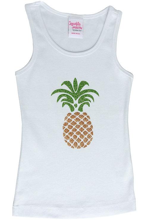 Glitter Pineapple Tank WS