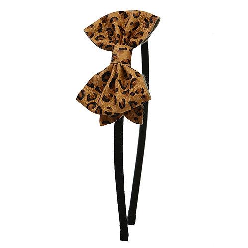 Leopard Bow Headband WS