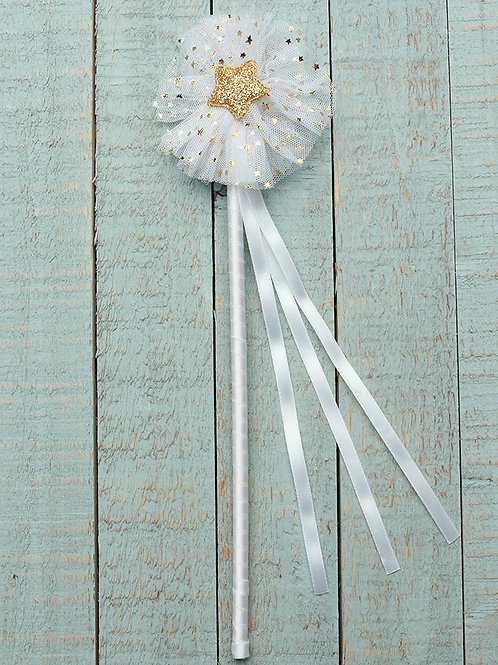 Tulle Gold Star Wand