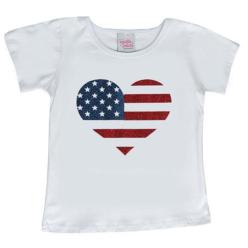 Heart Flag T shirt WS